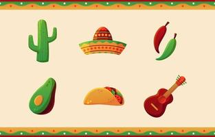 Cinco De Mayo Icon Pack vector