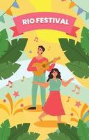 Rio Festival Poster Concept vector