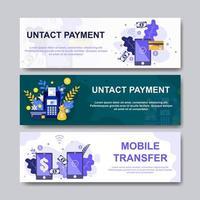 Untact Payment Technology Banner vector
