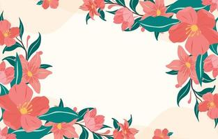 Red Floral Spring Background vector
