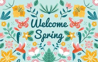 Welcoming Spring Ornament Background