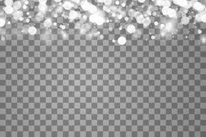 Efecto de luz brillante con muchas partículas de brillo de fondo aislado. vector nube estrellada con polvo. decoración navideña mágica