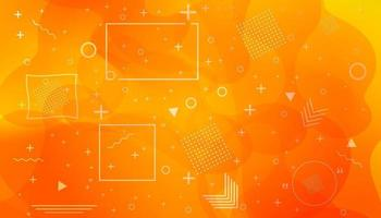 Dynamic textured background design in 3D style with orange color. Vector background.