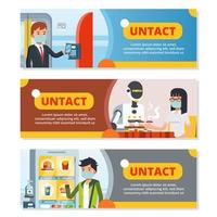 Banner of Untact and Contacless Technology vector