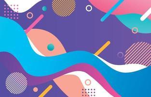 fondo colorido de la onda abstracta vector