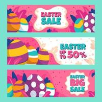 Colorful Easter Eggs Marketing Banner vector