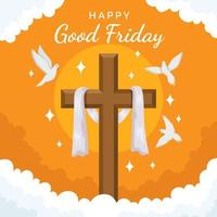 Good Friday Background in Flat Design vector