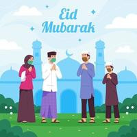 Eid Greetings on Pandemic Situation vector