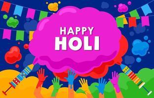 Background Of Holi Festival Celebration vector
