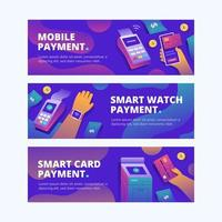 New Normal Contactless Payment Banner vector