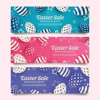 Pastel Monochrome Easter Sale Banners vector