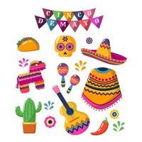 Cinco de Mayo Stickers vector