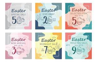 Easter Marketing Social Media vector