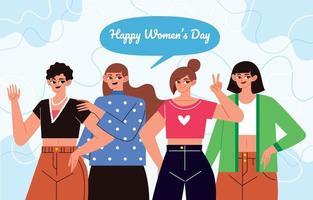 feliz día de la mujer vector