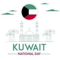 Kuwait national day wallpaper vector