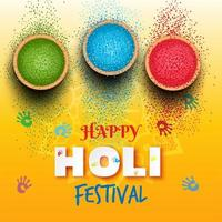 Holi festival background with colors illustration vector