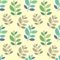 leaves on the stem seamless pattern illustration vector