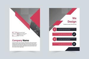 Simple style company planning leaflets