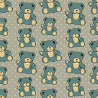lindo oso ilustración de patrones sin fisuras vector