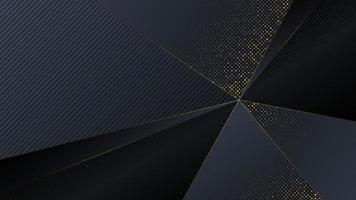 Luxury polygon abstract background with golden color. vector