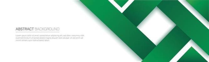 banner de línea verde moderna. ilustración vectorial vector