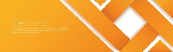 modern orange line banner. vector illustration
