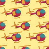helicopter vehicle seamless pattern illustration vector