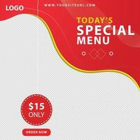 New social media Food sale banner for social media cover, post and web advertising vector