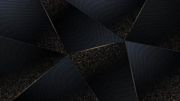 Abstract polygon background with luxury and pattern with gold trim. vector