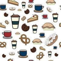 Bebidas y aperitivos de patrones sin fisuras perfecto para papel tapiz o fondo vector