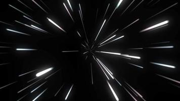 La luz del rayo cómico se mueve desde el centro sobre fondo negro