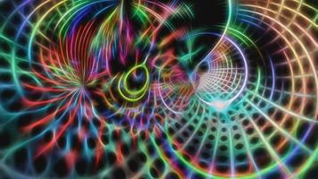 Fondo fractal de neón multicolor abstracto