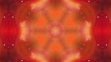 fond abstrait mandala kaléidoscope orange
