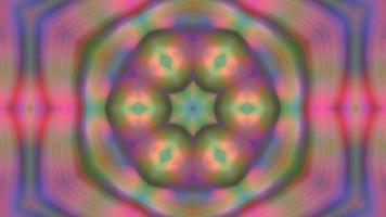 mandala de caleidoscopio de fondo multicolor abstracto video