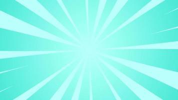 rayons bleus rétro sunburst animés. rayon de soleil rotatif vintage ou faisceaux. animation comique ou cartoon