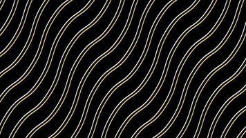 gelbe und weiße Linien winken auf schwarzem Hintergrund