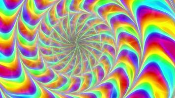 Abstract Rotating Multi-Colored Background video