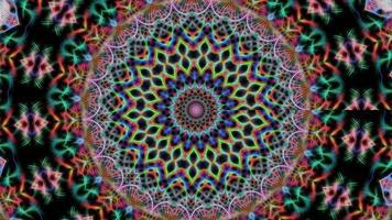 Fondo de geometría caleidoscopio multicolor abstracto video