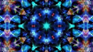 Fondo de mandala caleidoscopio azul abstracto video