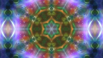 Abstract Festive Symmetrical Kaleidoscope Background