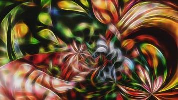 fundo abstrato fractal com um padrão de néon em movimento