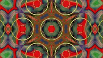 Fondo de caleidoscopio rojo abstracto con formas video