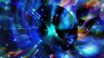 Fondo azul fantástico abstracto con una esfera