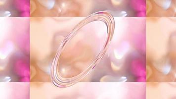 abstrakter Hintergrund mit einer transparenten Form in der Mitte