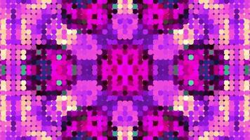 fundo de caleidoscópio rosa abstrato video