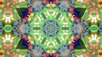 Fondo de caleidoscopio abstracto con formas video