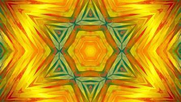 fundo de caleidoscópio amarelo simétrico abstrato