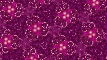 Fondo de caleidoscopio rosa abstracto para el día de San Valentín