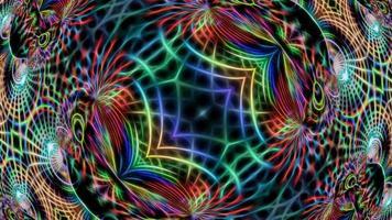 fundo de caleidoscópio multicolorido abstrato video