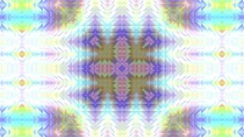 caleidoscópio geométrico abstrato com efeito de néon holográfico video